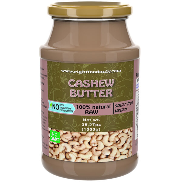 Cashew Nussaufstrich 1kg | Alle natürliche Nussbutter 1kg Eine Zutat | | Kein Zucker Hinzugefügt | Veganer Aufstrich | Pflanzliches Protein (Cashew 1 kg)