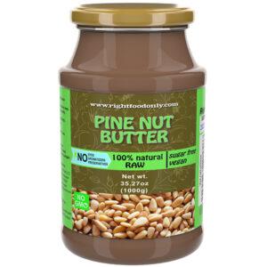 Pinienkern Nussaufstrich 1kg | Kaltgepresste rohe Nussbutter | Kein Zucker hinzugefügt | Veganer Aufstrich | Pflanzliches Protein (Pinienkerne 1 kg)