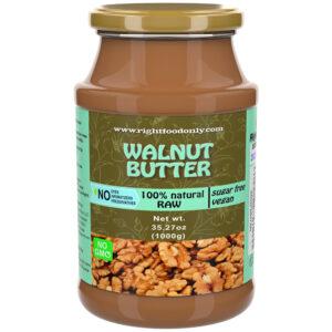 Nussbaum Nussbutter RAW 1kg | Eine Zutat | Kaltgepresst Gesunde Verbreitung | Frei von Zucker Veganes Protein | 100% Natürlich (Walnuss 1 kg)