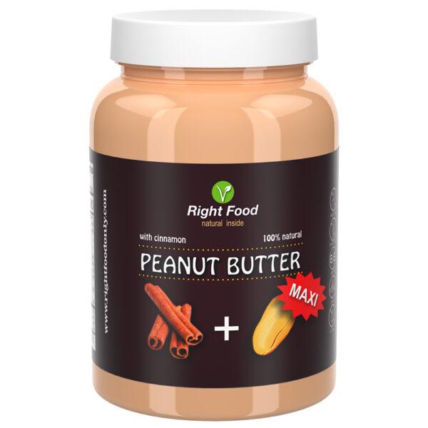 Cinnamon Peanut Butter 1kg Jar   Natural Vegan Sugar-Free Spread   Vegetable Protein   100% Superfood