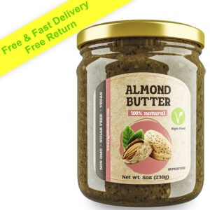 Almond Butter 8oz (230g) | Nut Butter Free of Sugar | Almond Spread 100% Natural | Vegan Superfood | Low Carb Nut Butter | KETO