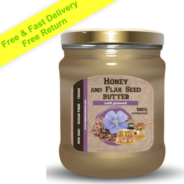 Flaxseed Butter Spread with Buckwheat Honey