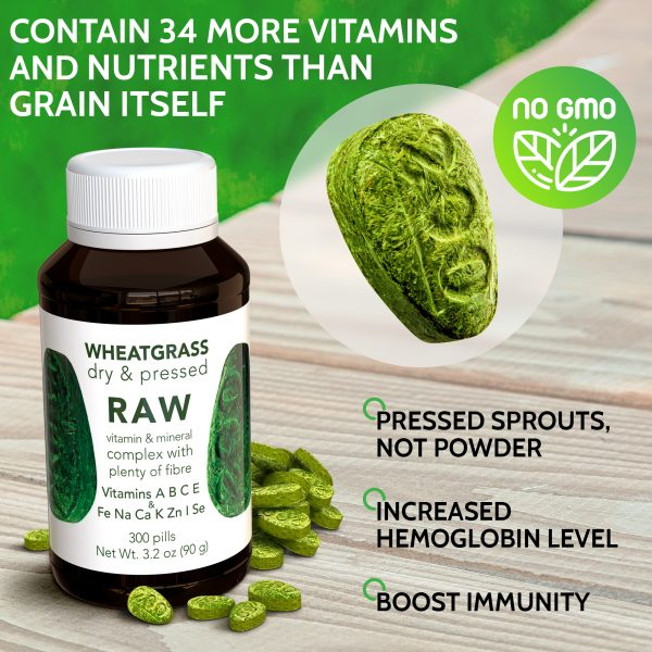 RAW Wheatgrass Pressed Sprouts