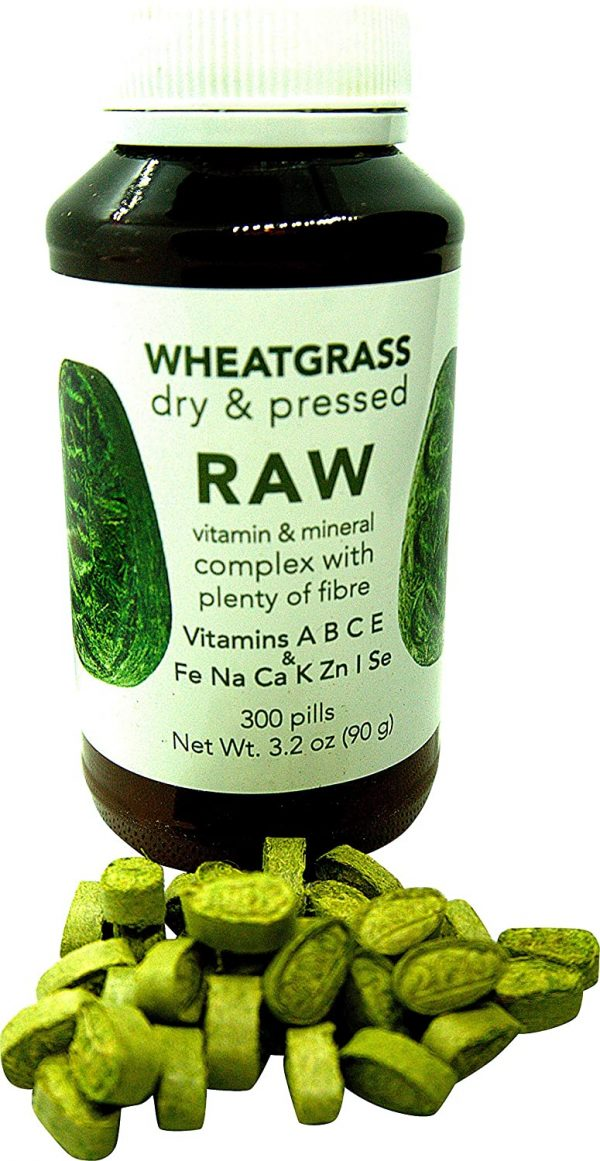 RAW Wheatgrass Pressed Sprouts 300 Capsules 10