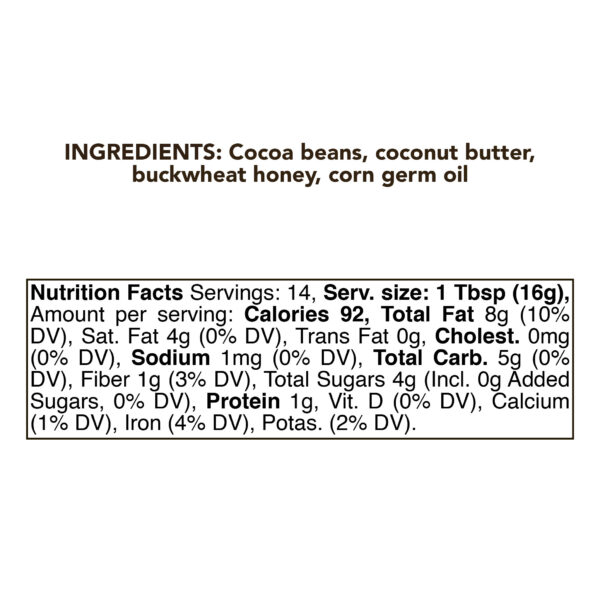 Chocolate Coconut Butter 230g (8oz) 3