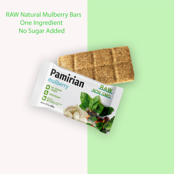 Mulberry Fruit Bar   Pack of 7 Bars   RAW 3