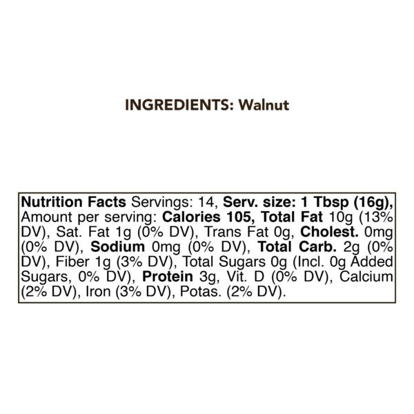 Walnut Nut Butter | 8oz - 230g | RAW 1