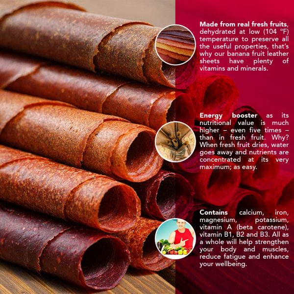 Banana wrap - 100% Natural Dried Fruit Leather 2